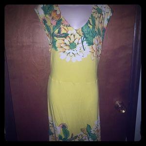 Isaac Mizrahi Yellow floral dress